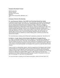 example of bio sketch format doc doc