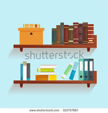 Wall Mounted Wooden Shelves by Wallmounted Wooden Shelves Books Vector Illustration Stock Vector