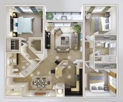 three bedroom house plans 25 more 3 bedroom 3d floor plans ripping beautiful house plan and