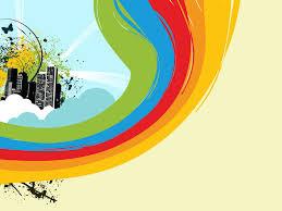 rainbow color templates for powerpoint presentations rainbow