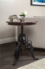 adjustable height end table hand crank coffee table adjustable height end table round reclaimed