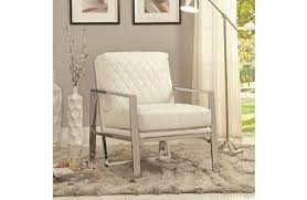 White Accent Chair Barcelona White Leather Accent Chair