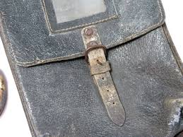 Leather Map Rare Vintage Wwii Ww2 Period German Leather Map Case Bag Germany