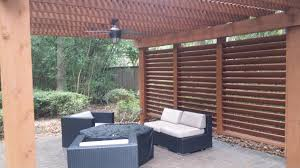 Pergola With Fire Pit by Patio Covers And Pergolas In The Woodlands Hortus Landscape Design