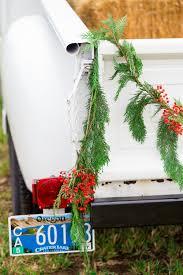 vintage chevy truck christmas tree farm engagement photo u2014 the