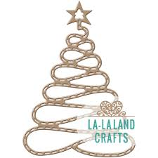 christmas christmas la land crafts die spiral tree with