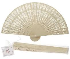 decorative fan 8 beige ivory folding wood panel fan w white