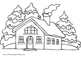christmas house coloring pages part 3