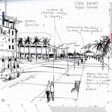 lines on paper urban planning sketches