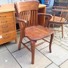 Antique Wooden Office Chair Vintage Oak Chair The Consortium Vintage Furniture