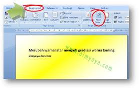 rumus membuat latar belakang cara merubah warna background latar kertas di microsoft word