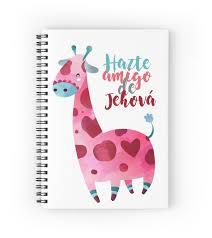 giraffe pattern notebook become a friend of jehovah giraffe model spiral notebooks by