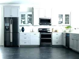 kitchen design white cabinets black appliances white cabinets black appliances