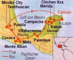 Teotihuacan Map Rundreise Mexiko