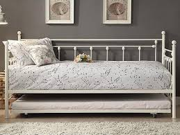 White Metal Daybed With Trundle White Metal Daybed With Trundle The Furniture Mart