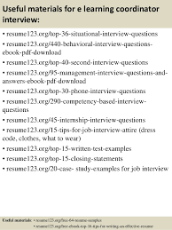Job Resumes Samples by Top 8 E Learning Coordinator Resume Samples