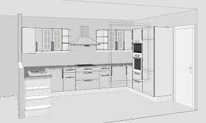 plan de cuisine en l merveilleux cuisine en u plan design patio at phenix 27 projet