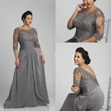 Plus Size Cowgirl Clothes Long Mother Of The Bride Dresses 2015 Floor Length Silver Plus