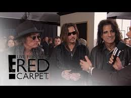E Red Carpet Grammys Johnny Depp Rolls With Super Group To 2016 Grammys Live From The