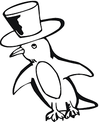 penguin coloring pages the sun flower pages