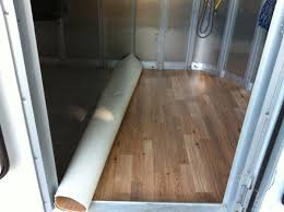 trails and trials trailer modification vinyl floor