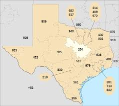 Waco Texas Zip Code Map by Area Code 254 Wikipedia