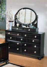 constellations traditional black wood faux stone dresser and