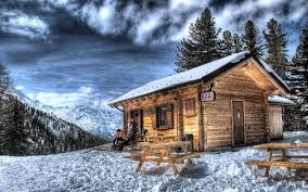 winter cabin winter cabin trees eight clouds winter wallpaper gallery for hd