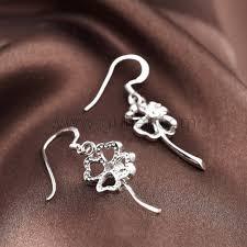 gold plated earrings for sensitive ears gold plated flower drop earring for sensitive ears personalized