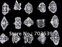 metal fashion rings images Bohemian mixed adjutale polymer clay rings free shiping round jpg