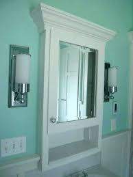 White Storage Cabinet For Bathroom Recessed Storage Cabinets Christlutheran Info