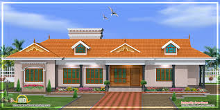 kerala style single floor house architecture square meter home