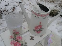 Shabby Chic Flower Pots by Buy Watering Can And Plant Pots In The Style Of Shabby Chic