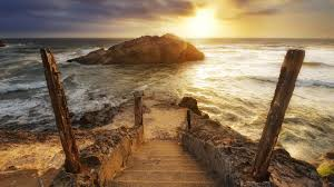 stairs tag wallpapers landscape rocks sunset stairs surfing