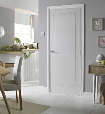 Modern White Interior Doors 1 Panel Smooth White Primed Door