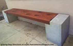 i built a modern concrete and redwood bench for 150 and now so