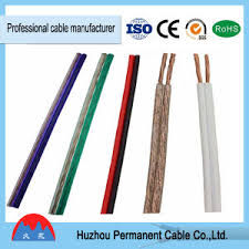 china 1 5mm2 transparent speaker cable yellow red and black
