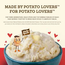 idaho spuds mashed potatoes classic 26 7 oz walmart com