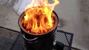 Portable Fire Pit Walmart Video 2 Diy Walmart Gasifier Forge 24 With Wood Pellets Big Fire