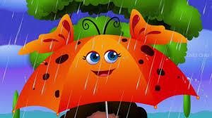 rain rain go away nursery rhyme with lyrics cartoon animation