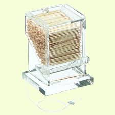 carlisle acrylic clear toothpick dispenser tp10007 the home depot