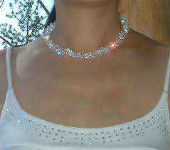 crystal silver necklace images Swarovski crystal chunky bridal wedding jewelry choker sterling jpg