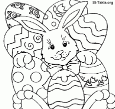 free printable easter bunny coloring pages for kids pertaining to