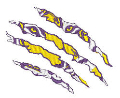 tiger scratch embroidery design