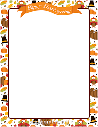 happy thanksgiving border clip page border and vector graphics
