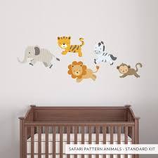 Animal Wall Decor For Nursery Safari Pattern Animals Printed Wall Decal