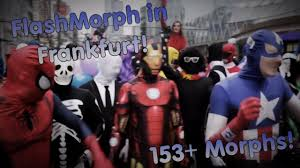 morphsuits halloween city morphsuits biggest ever flashmorph 153 morphs in frankfurt youtube