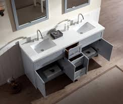 Ariel Hamlet  Double Sink Vanity Set With White Quartz - Bathroom vanities with quartz countertops