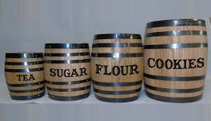 Red Kitchen Canisters Sets Oak Barrel Canister Set Red Head Oak Barrels Aging Rum
