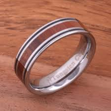 koa wedding bands 6mm hawaiian koa wood inlaid tungsten line wedding